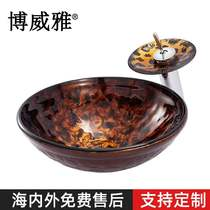 Bathroom manufacturers direct sales of the new European-style hand-painted flame art washbasin home bathroom hand wash 檯 on the basin