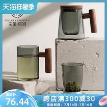 Деревянная игрушка Шэн чай разделение воды чайная чашка цветное стекло мужская простая японская чашка для воды чистая чашка сафлорового чая