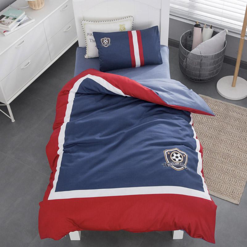 Хлопчатобумажное одеяло для детского сада в стиле колледжа комплект из трех частей с сердечником набор из шести частей ребенок в парк в детскую спит специальные постельные принадлежности