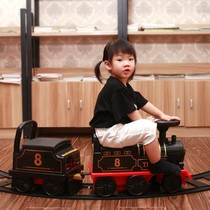 Large Train Track Toy Super Long Small Seated Children Indoor 10 year old Mall Electric model Steam China
