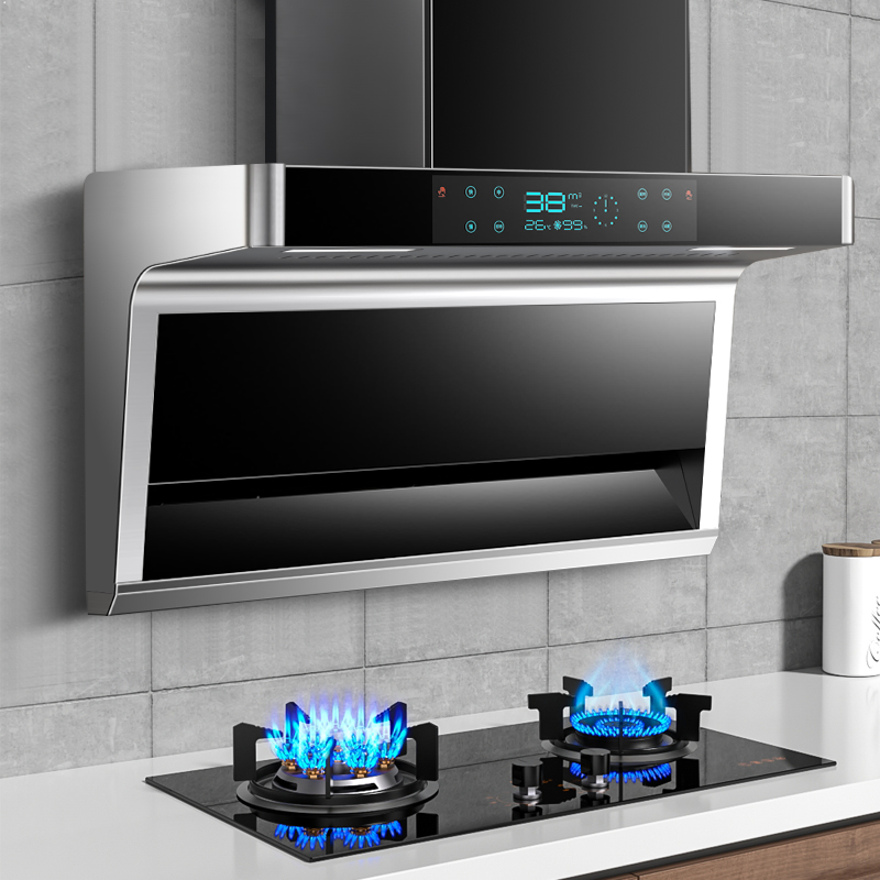 Good wife range hood gas stove package home side top double suction smoke machine stove smoke stove elimination set combination