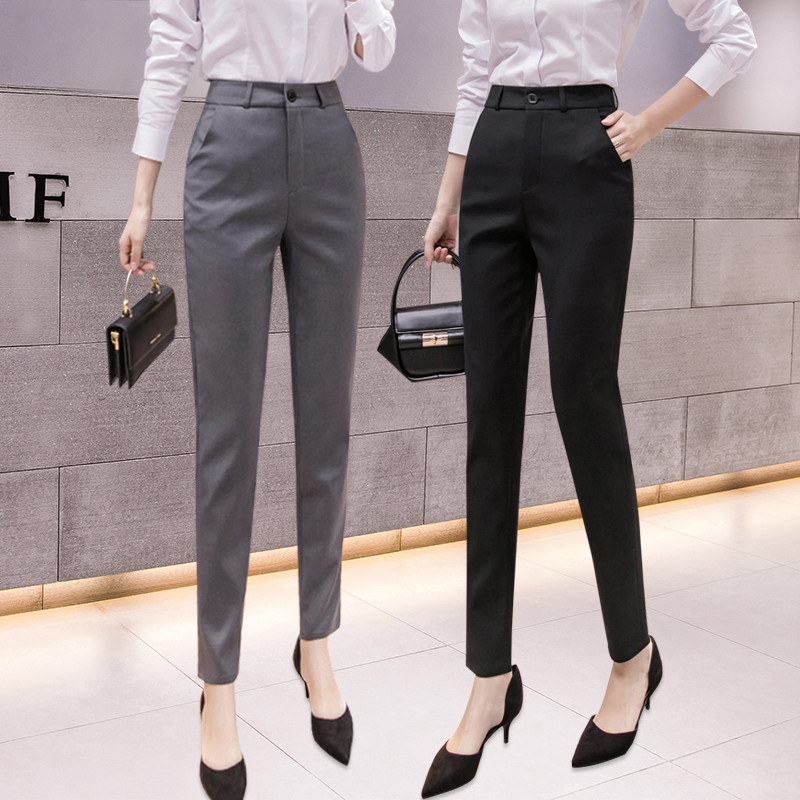 Suit pants Womens professional pants West pants High waist Womens pants Trousers Formal pants overalls feet suit pants Spring and summer