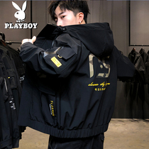 Playboy mens jacket 2020 new spring Korean version of the trend of spring and autumn Tide brand mens tooling handsome jacket