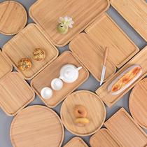 Plateau rectangulaire bambou disque en bois Plateau à thé barbecue Fruits plaque en bois plaque
