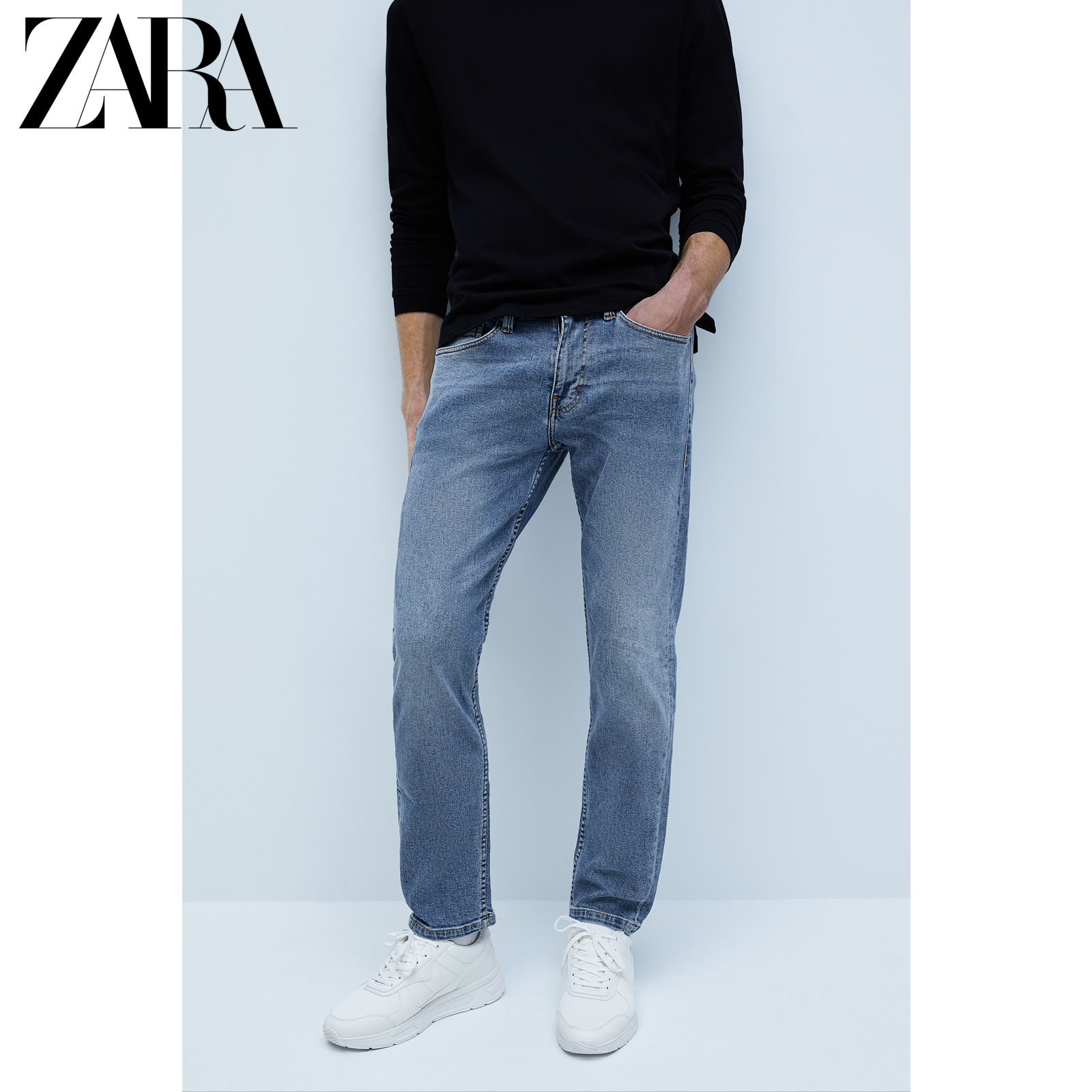 Zara new men's slim straight jeans 05575451406