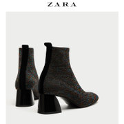 ZARA TRF shoes socks with bright decorative rough boots 17138201202