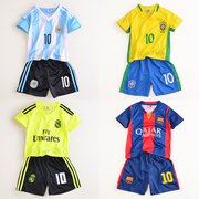 Children in child soccer uniforms sportswear men's shirts sportswear summer summer baby boy