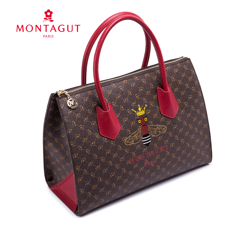 Montagut bag female 2018 new fashion autumn and winter models ladies handbags atmospheric handbags large capacity on the new wave