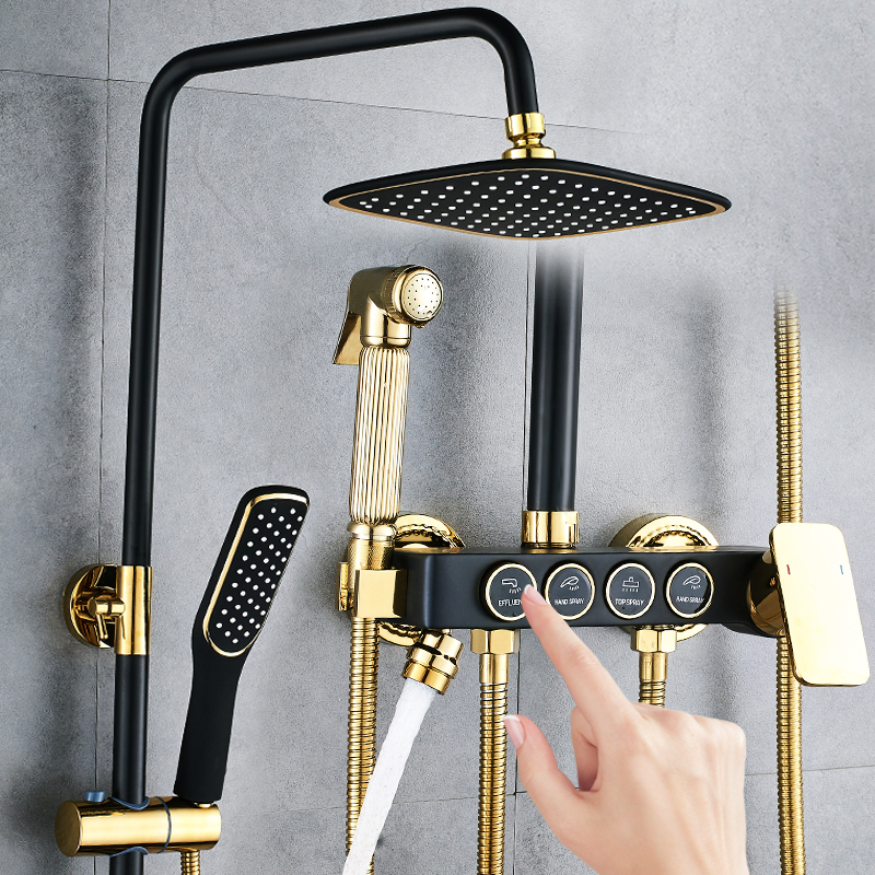 Shower shower set all copper bathroom household constant temperature shower bathroom shower shower shower shower shower shower faucet
