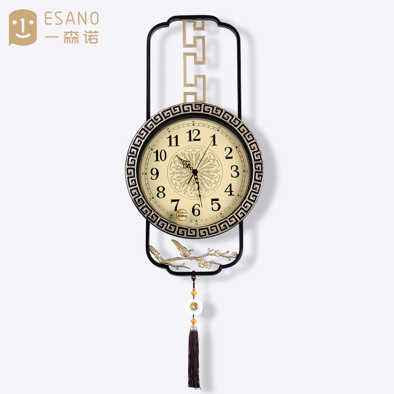 New Chinese-style living room decoration clock wall with home clock creative fashion personality watch concise atmosphere Chinese style