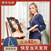 Ling Dian diy digital oil painting Custom oil painting decompression filling photo coloring Hand-painted Tanabata gift decorative painting