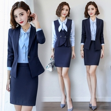 High-end professional attire temperament Goddess Fan Summer Fashion Suit Female Stewardess Interview Suit for Teachers