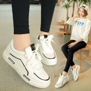 Autumn shoes 2017 new students thick bottom shoes muffin bottom street shoes white shoe lace.