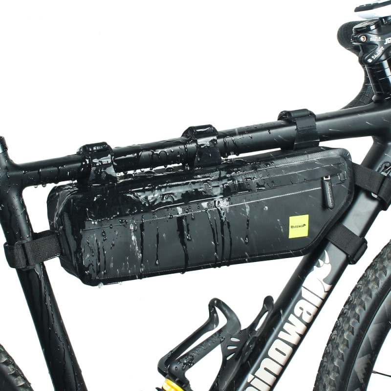 Bicycle waterproof beam package triangle package road mountain bike upper tube package seamless voltage large capacity riding bag