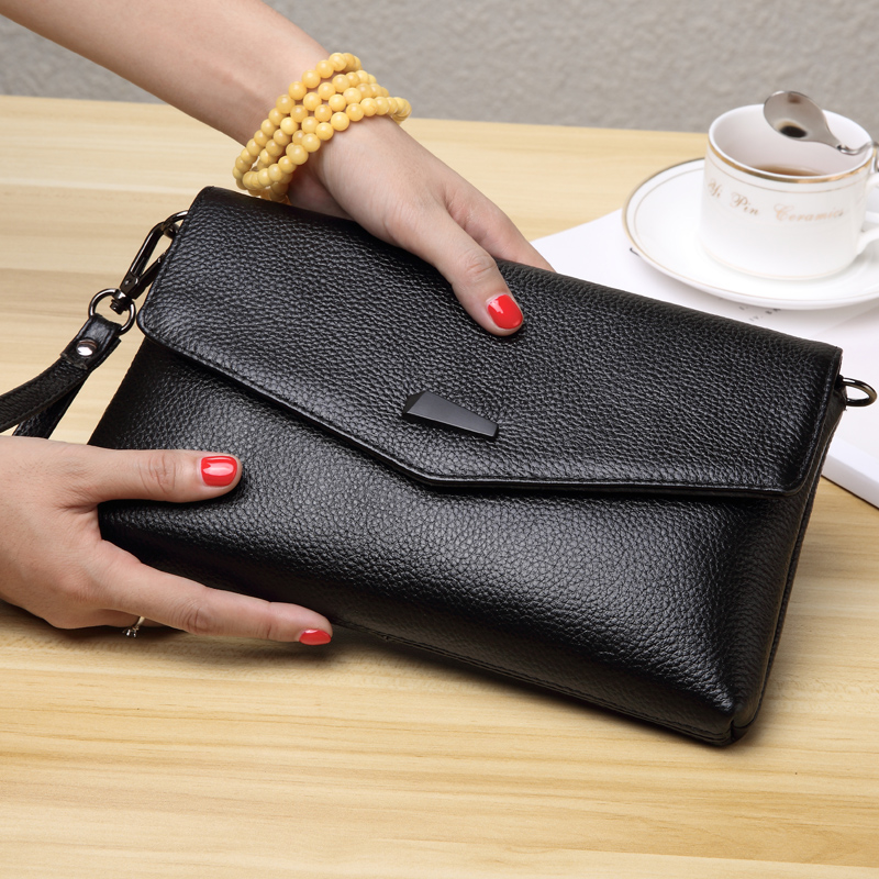 New fashionable ladies with bags, leather, recreational bags, one-shoulder slanting bags, cowhide, hand grasping bags