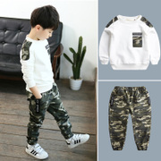 Kids Boys autumn suit 2017 new 6 camouflage 8 year old boy in spring and autumn, two sets of Korean tide clothing