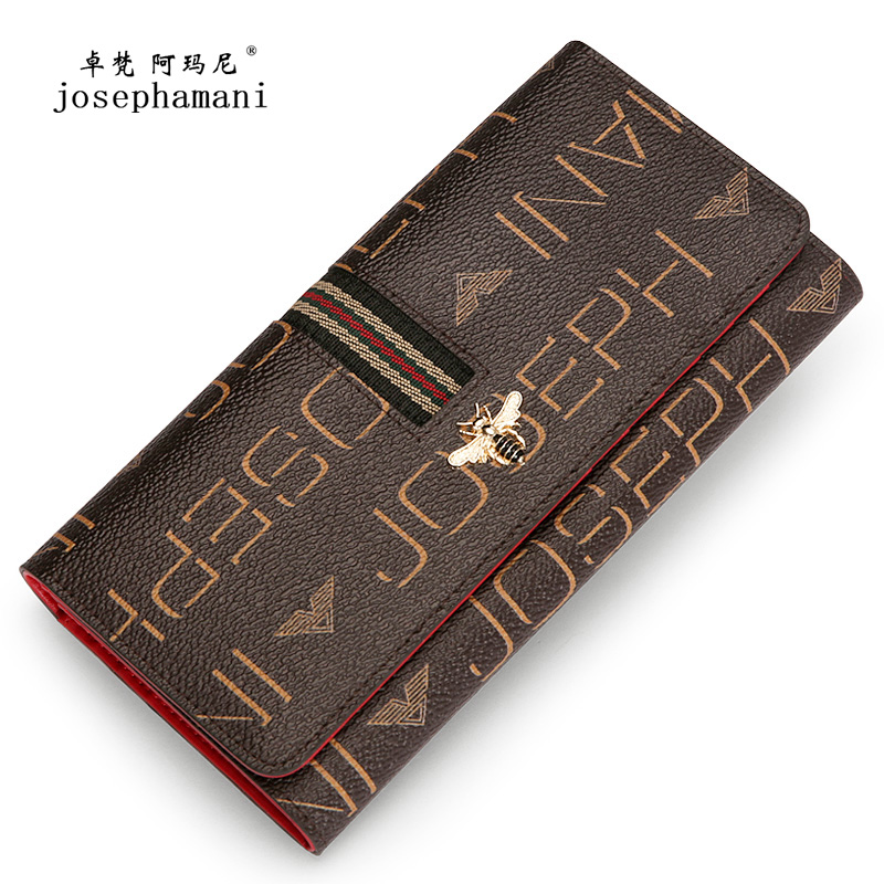 Zhuofan Armani Wallet Female 2019 New Fashion Long-style Women's Large Capacity Brand Atmospheric Women's Wallet