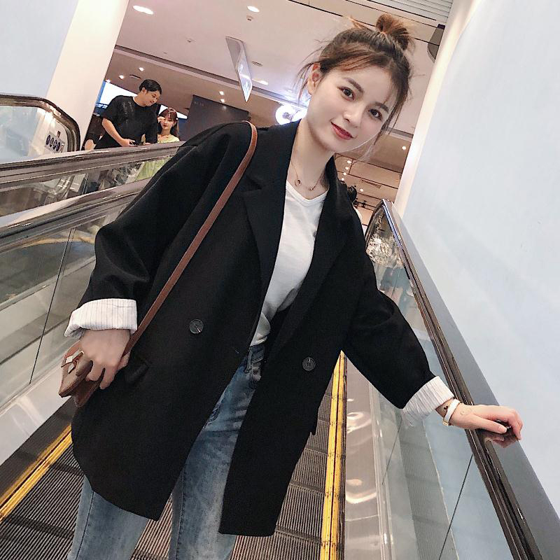 2020 new Korean spring and autumn suit coat women's fashion leisure net red small suit set British spring coat