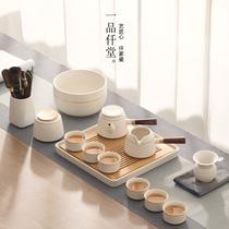 一品仟堂功夫茶具套装家用客厅陶瓷轻奢现代简约干泡茶盘小套礼盒