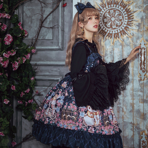 f95e9676123a ... Style Girly Girl Skirt. licaibing 2008 ·  In stock collection  Little  Women Sweet Lolita Brand Original Lolita Dress JSK floral wall