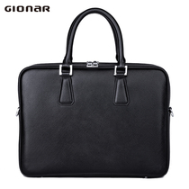 GIONAR mens briefcase mens leather business mens bag handbag cross section of the first layer of leather shoulder mens handbag