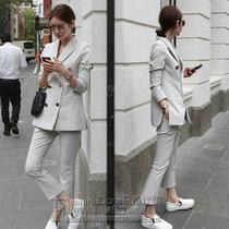 South Korea 2019 autumn new Korean fashion temperament slim thin suit jacket womens casual pants suit tide