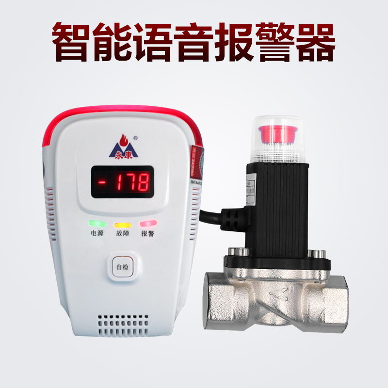 Yongkang Gas Alarm Automatic Cut-off Valve Household Gas and Natural Gas Leakage Kitchen Flammable Gas Detector