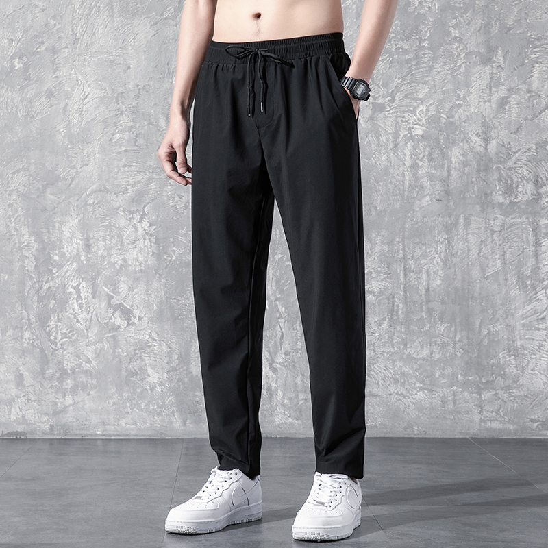 Casual pants men's long pants autumn Korean version of the trend of loose straight wild autumn and winter boys plus velvet sweatpants
