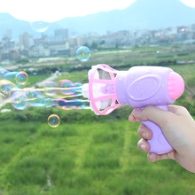 Children's Bubble Machine Fully Automated Hand Bubble Gun Vibration Net Red Girl Baby Toys Concentrated Bubble Water Liquids