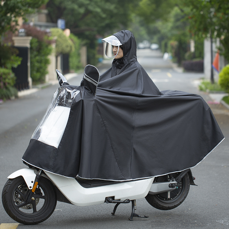 Electric battery motorcycle riding special raincoat single double increase thickened men and women long version of the whole body rain-proof cape