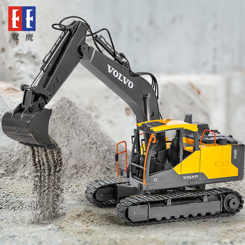 Electric Alloy Excavator Toy 3-6 Gift for Children