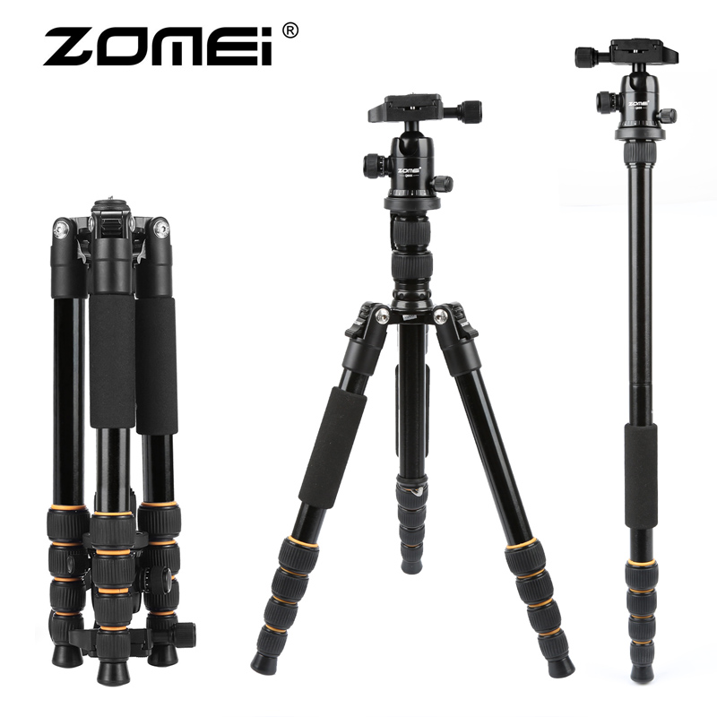 Q666 trip photography tripod SLR head set portable camera Canon Nikon micro single camera stand
