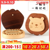 Wooden Father and Children's Primary Tooth Memorial Box Boys Primary Tooth Box Girls Tooth Collection Box Babies Exchange Dental Wood