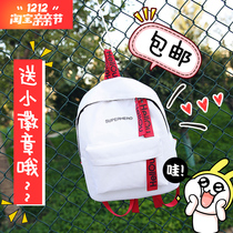 Korean version of the new wave of shoulder bag female canvas solid color hit junior high school students small bag small fresh wild shoulder bag