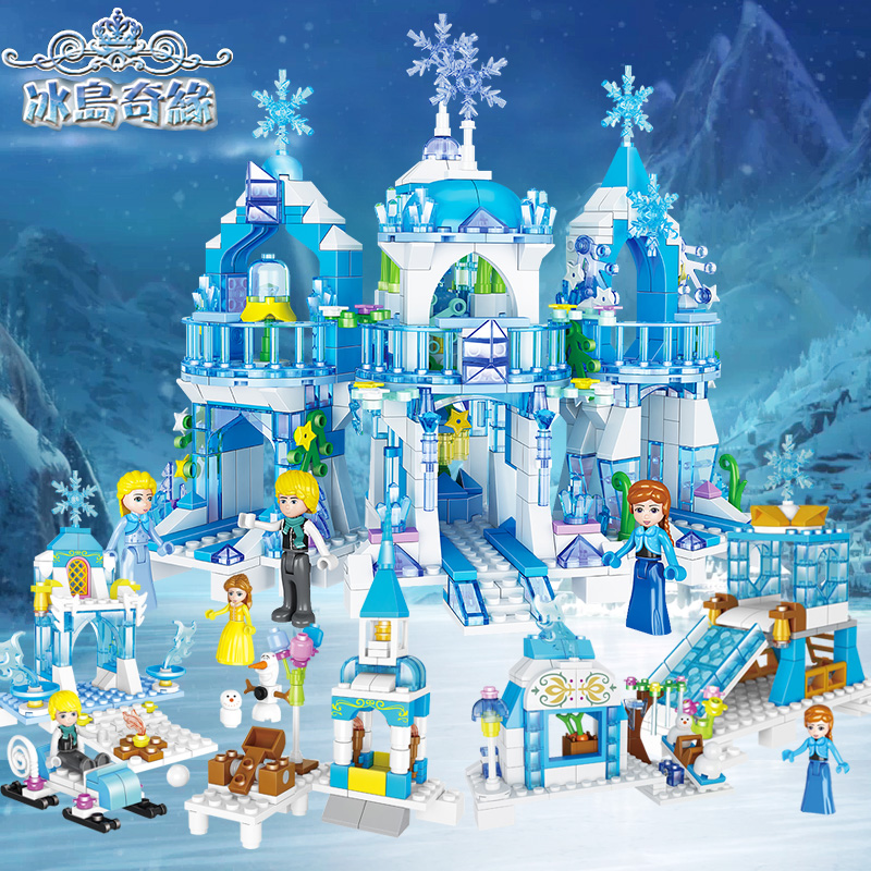 Ice and Snow 5 Margin Girl Series Princess Esha Dream Windsor Castle Building Blocks Compatible with Legao Puzzle Assembly Toys
