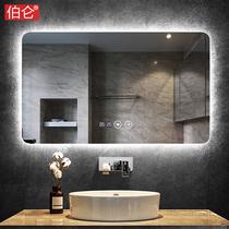 Boren frameless bathroom mirror backlight wall hanging led smart dressing room makeup mirror anti-fog with lamp mirror