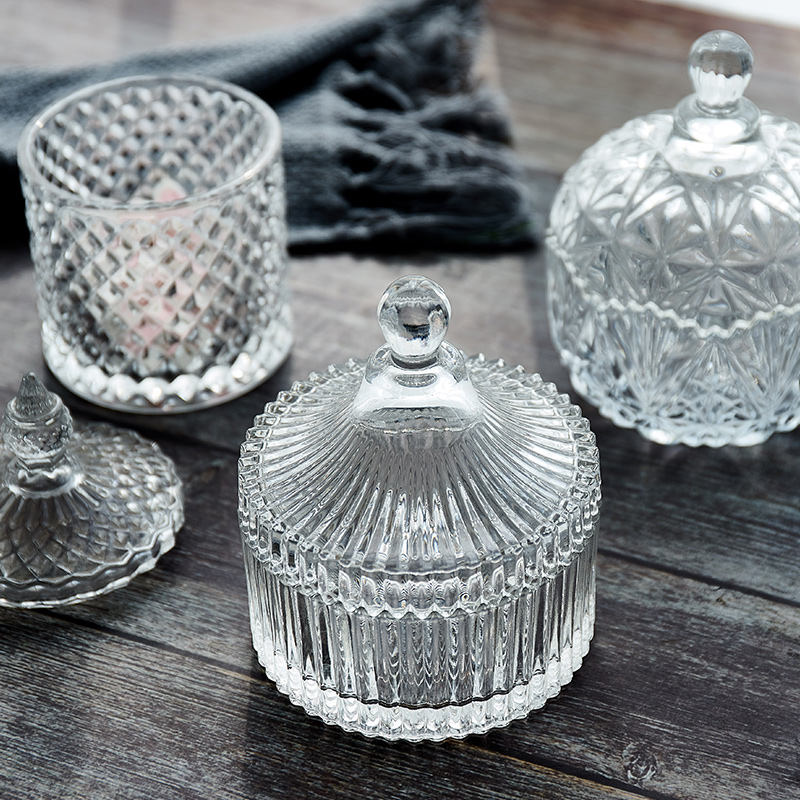 European-style Glass Candy Jar decorations in creative living room
