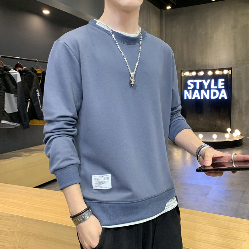 Long sleeve t-shirt men's short sleeve spring T-shirt autumn trend ins spring bottoming shirt clothes 2020 men's sweater