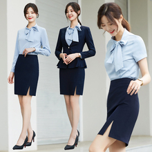 Professional attire temperament goddess model suit Yuanyuan Xiaoxiangfeng beautician working clothes teacher interview dress president