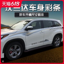 It is suitable for 15-20 new type of Highlander body color stripe Toyota Highlander waist line car stickers with laffle modification stickers