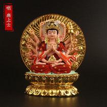Zhunti Bodhisattva Buddha statue Affixed with gold painted Guanshiyin Bodhisattva Zhunti Buddha mother carry-on car small buddha statue