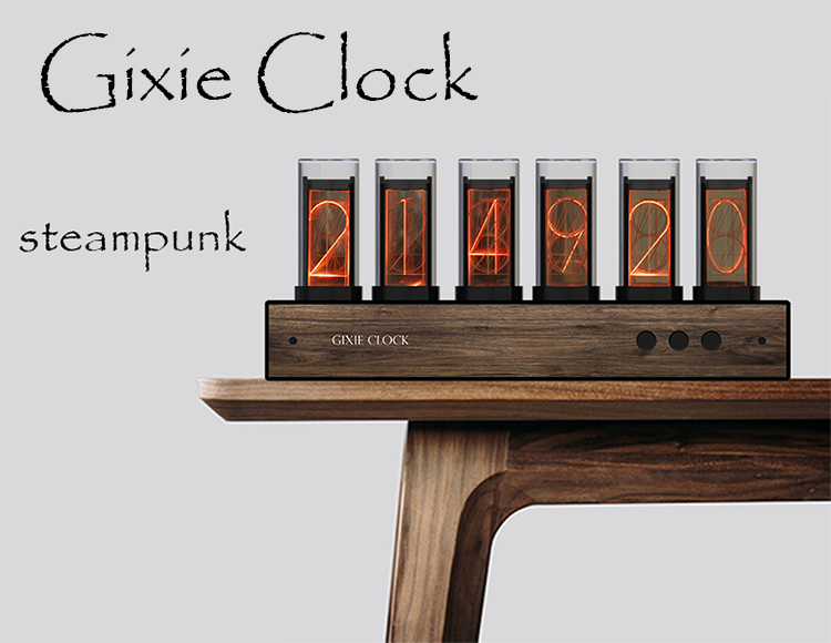 Glow Tube Clock Glow Clock Creative Digital Clock Gixie clock