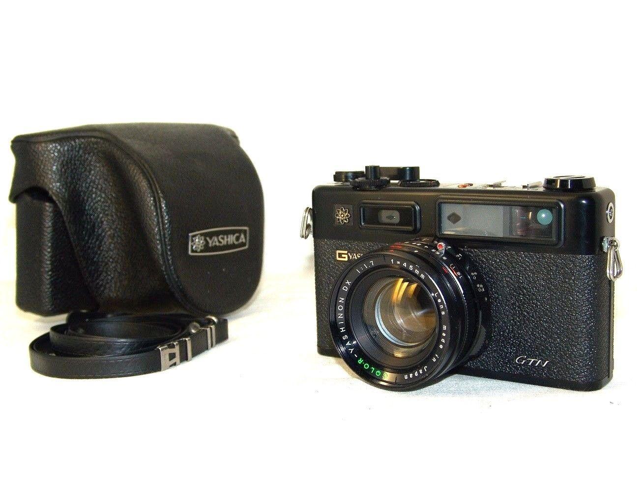 Camera DASHICA GTN electroplating 35 color Yashinon DX 1 7 45mm lens Japan