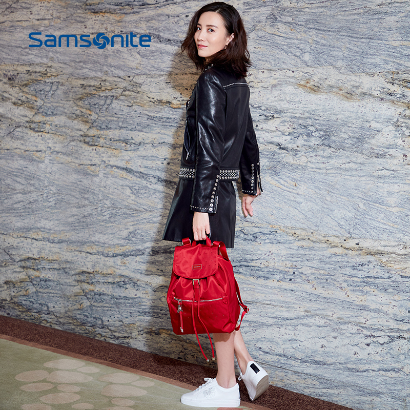 Samsonite / Samsonite star with the same paragraph fashion handbags lightweight nylon backpack Korean version of the backpack 34N
