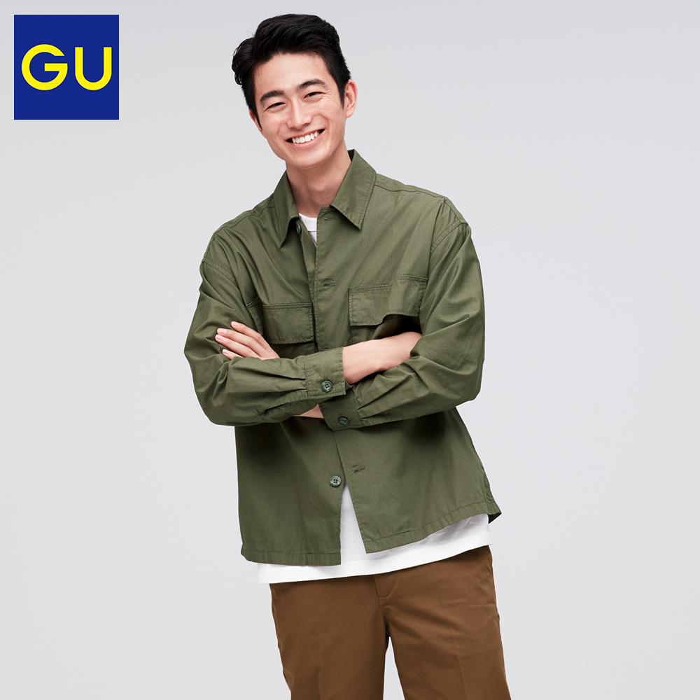 Gu excellent men's military style shirt new fashion trend in spring 2020 work style casual top 323458
