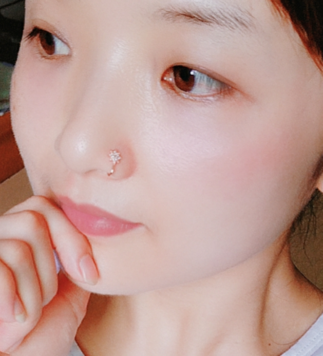 No punch hole-free nasal ring false nose nail fake nose clip nose clip ear bone clip pure silver diamond-encrusted woman punctured pure silver false earrings