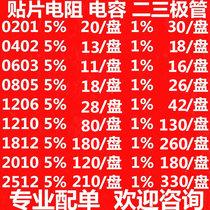 Thick sound chip resistance 0201 0402 0603 0805 1206 1812 2512 2010 Precision%1 %5