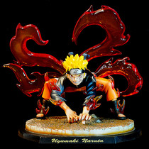 High-quality version of The Shadow of Fire Ninja Nine-tailed Demon Fox Naruto Fairy Mode gk model pose for a statue
