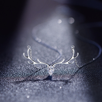 Necklace Womens summer sterling silver a deer have you all the way 2021 new womens light luxury niche clavicle chain fairy simple