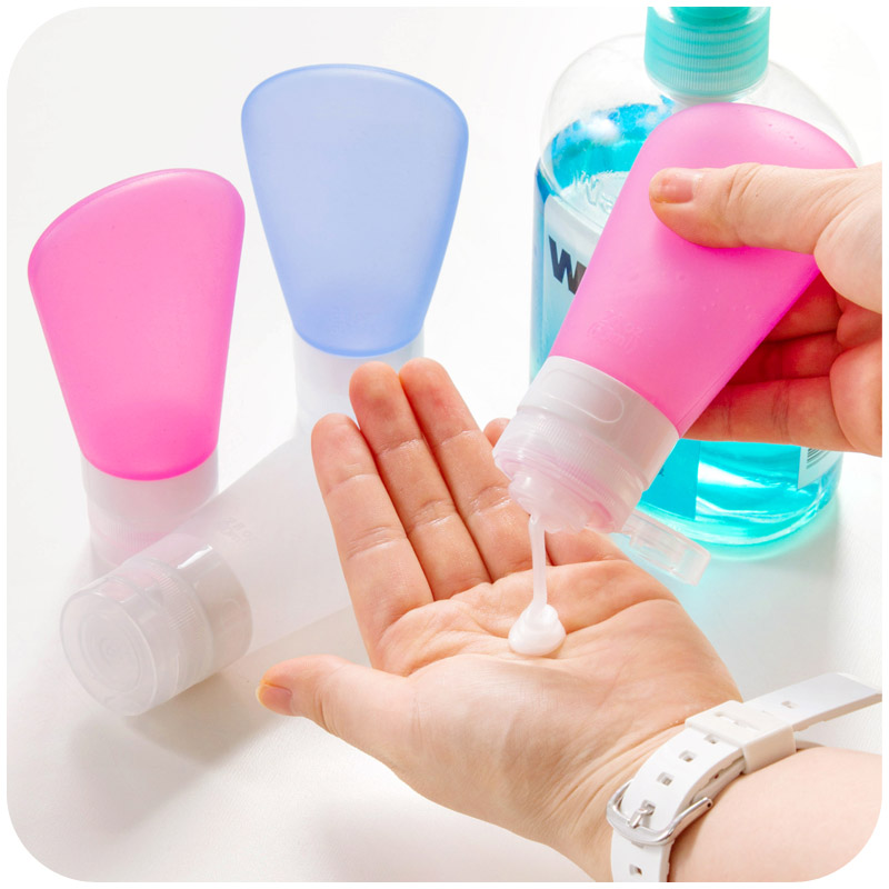Travel silicone sub-bottle shower gel lotion shampoo cosmetics set travel supplies portable environmental protection empty bottle